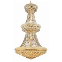 Elegant Lighting V1800G36G/SS Primo 32 Light 36 inch Gold Foyer Ceiling Light in Swarovski Strass