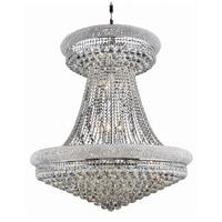 Elegant Lighting V1800G36SC/EC Primo 28 Light 36 inch Silver and Clear Mirror Foyer Ceiling Light in Elegant Cut