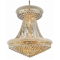 Elegant Lighting Primo 28 Light Foyer in Gold with Swarovski Strass Clear Crystal 1800G36SG/SS