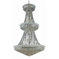 Elegant Lighting Primo 38 Light Foyer in Chrome with Elegant Cut Clear Crystal 1800G42C/EC