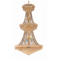 Elegant Lighting Primo 38 Light Foyer in Gold with Swarovski Strass Clear Crystal 1800G42G/SS