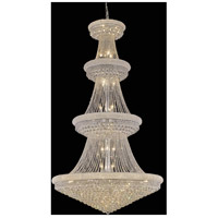 Primo 42 Light 48 inch Chrome Foyer Ceiling Light in Swarovski Strass