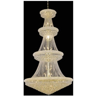 Primo 42 Light 48 inch Gold Foyer Ceiling Light in Swarovski Strass
