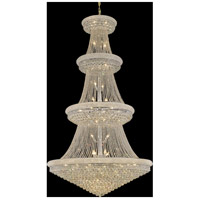 Elegant Lighting Primo 48 Light Foyer in Chrome with Swarovski Strass Clear Crystal 1800G54C/SS