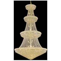 Primo 48 Light 54 inch Gold Foyer Ceiling Light in Swarovski Strass