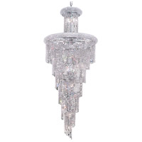 Elegant Lighting Spiral 28 Light Foyer in Chrome with Swarovski Strass Clear Crystal 1800SR30C/SS