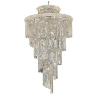 Elegant Lighting Spiral 41 Light Foyer in Chrome with Swarovski Strass Clear Crystal 1800SR48C/SS