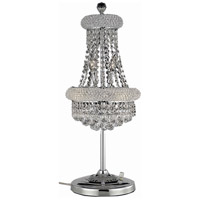 Elegant Lighting Primo 6 Light Table Lamp in Chrome with Swarovski Strass Clear Crystal 1800TL12C/SS