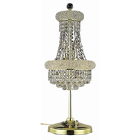 Elegant Lighting Primo 6 Light Table Lamp in Gold with Royal Cut Clear Crystal 1800TL12G/RC alternative photo thumbnail