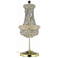 Elegant Lighting Primo 6 Light Table Lamp in Gold with Royal Cut Clear Crystal 1800TL12G/RC
