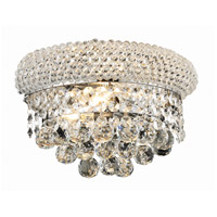 Elegant Lighting Primo 2 Light Wall Sconce in Chrome with Elegant Cut Clear Crystal 1800W12C/EC