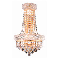 Elegant Lighting Primo 4 Light Wall Sconce in Gold with Royal Cut Clear Crystal 1800W12SG/RC