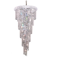 Elegant Lighting Spiral 18 Light Foyer in Chrome with Royal Cut Clear Crystal 1801SR22C/RC
