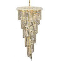 Elegant Lighting V1801SR22G/RC Spiral 18 Light 22 inch Gold Foyer Ceiling Light in Royal Cut alternative photo thumbnail
