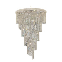 Elegant Lighting Spiral 29 Light Foyer in Chrome with Elegant Cut Clear Crystal 1801SR48C/EC