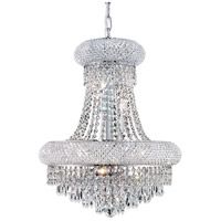 Elegant Lighting Primo 8 Light Dining Chandelier in Chrome with Elegant Cut Clear Crystal 1802D16C/EC