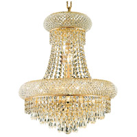 Elegant Lighting Primo 8 Light Dining Chandelier in Gold with Swarovski Strass Clear Crystal 1802D16G/SS