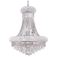 Elegant Lighting Primo 14 Light Dining Chandelier in Chrome with Elegant Cut Clear Crystal 1802D20C/EC