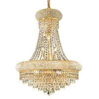 Elegant Lighting Primo 14 Light Dining Chandelier in Gold with Royal Cut Clear Crystal 1802D20G/RC alternative photo thumbnail