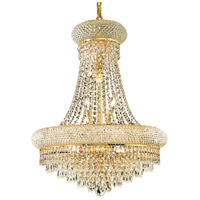 Elegant Lighting Primo 14 Light Dining Chandelier in Gold with Elegant Cut Clear Crystal 1802D20G/EC