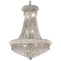 Elegant Lighting Primo 14 Light Dining Chandelier in Chrome with Elegant Cut Clear Crystal 1802D24C/EC