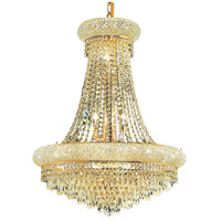 Elegant Lighting Primo 14 Light Dining Chandelier in Gold with Spectra Swarovski Clear Crystal 1802D24G/SA
