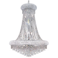 Elegant Lighting Primo 14 Light Dining Chandelier in Chrome with Swarovski Strass Clear Crystal 1802D28C/SS