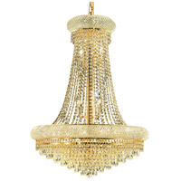 Elegant Lighting Primo 14 Light Dining Chandelier in Gold with Elegant Cut Clear Crystal 1802D28G/EC