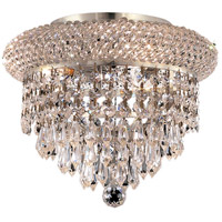 Elegant Lighting Primo 3 Light Flush Mount in Chrome with Swarovski Strass Clear Crystal 1802F10C/SS