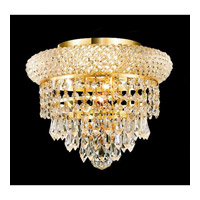 Elegant Lighting Primo 3 Light Flush Mount in Gold with Spectra Swarovski Clear Crystal 1802F10G/SA alternative photo thumbnail