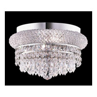Elegant Lighting 1802F12C/SA Primo 4 Light 12 inch Chrome Flush Mount Ceiling Light in Spectra Swarovski alternative photo thumbnail