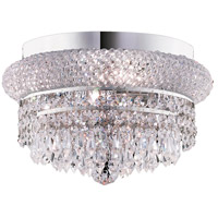Elegant Lighting Primo 4 Light Flush Mount in Chrome with Swarovski Strass Clear Crystal 1802F12C/SS