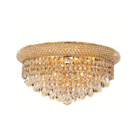 Elegant Lighting 1802F16G/EC Primo 8 Light 16 inch Gold Flush Mount Ceiling Light in Elegant Cut alternative photo thumbnail