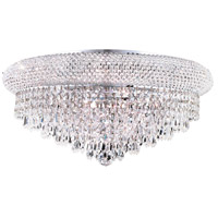 Elegant Lighting Primo 10 Light Flush Mount in Chrome with Royal Cut Clear Crystal 1802F20C/RC