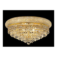 Elegant Lighting Primo 10 Light Flush Mount in Gold with Swarovski Strass Clear Crystal 1802F20G/SS alternative photo thumbnail