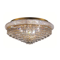 Elegant Lighting 1802F28G/SS Primo 15 Light 28 inch Gold Flush Mount Ceiling Light in Swarovski Strass alternative photo thumbnail