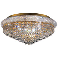 Elegant Lighting Primo 15 Light Flush Mount in Gold with Swarovski Strass Clear Crystal 1802F28G/SS
