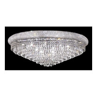 Elegant Lighting Primo 20 Light Flush Mount in Chrome with Swarovski Strass Clear Crystal 1802F36C/SS alternative photo thumbnail