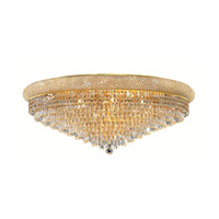 Elegant Lighting Primo 20 Light Flush Mount in Gold with Royal Cut Clear Crystal 1802F36G/RC alternative photo thumbnail