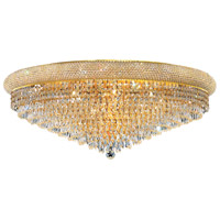 Elegant Lighting Primo 20 Light Flush Mount in Gold with Swarovski Strass Clear Crystal 1802F36G/SS