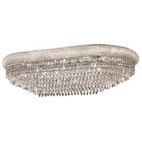 Primo 18 Light 20 inch Silver and Clear Mirror Flush Mount Ceiling Light in Swarovski Strass