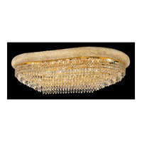 Elegant Lighting Primo 18 Light Flush Mount in Gold with Swarovski Strass Clear Crystal 1802F36SG/SS alternative photo thumbnail