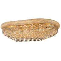 Elegant Lighting Primo 18 Light Flush Mount in Gold with Spectra Swarovski Clear Crystal 1802F36SG/SA