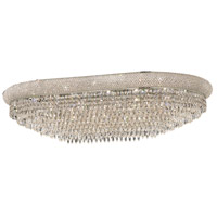 Primo 24 Light 24 inch Silver and Clear Mirror Flush Mount Ceiling Light in Royal Cut