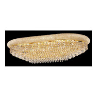 Elegant Lighting Primo 24 Light Flush Mount in Gold with Elegant Cut Clear Crystal 1802F40SG/EC alternative photo thumbnail