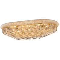 Elegant Lighting Primo 24 Light Flush Mount in Gold with Swarovski Strass Clear Crystal 1802F40SG/SS