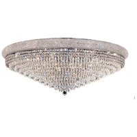 Primo 30 Light 42 inch Chrome Flush Mount Ceiling Light in Elegant Cut