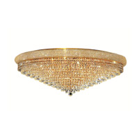 Elegant Lighting 1802F42G/EC Primo 30 Light 42 inch Gold Flush Mount Ceiling Light in Elegant Cut alternative photo thumbnail