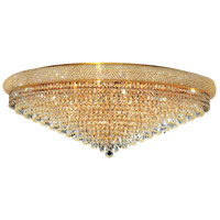 Elegant Lighting Primo 30 Light Flush Mount in Gold with Swarovski Strass Clear Crystal 1802F42G/SS
