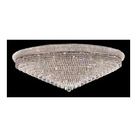 Elegant Lighting 1802F48C/EC Primo 33 Light 48 inch Chrome Flush Mount Ceiling Light in Elegant Cut alternative photo thumbnail